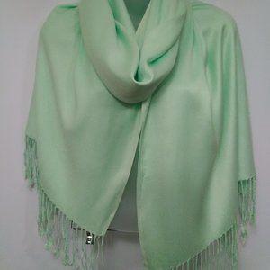 NewDirection Cucumber Crush  Wrap/shawl /Fringe